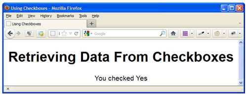 Retrieving Data From Checkboxes