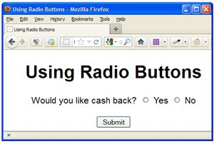 Using Radio Buttons