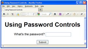 Using a password control.