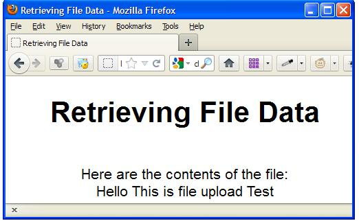Retrieving File Data