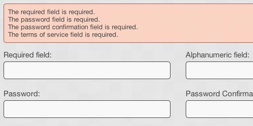 Javascript Form Validation Plugin