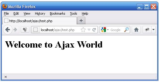 Beginning Ajax With PHP Test 1