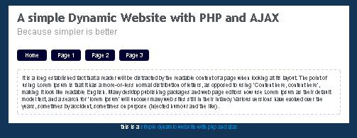 A simple Dynamic Website with PHP and AJAX