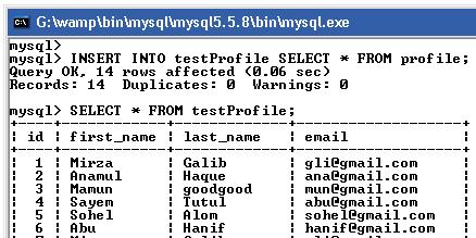 INSERT Data From Another table using mysql SELECT QUERY