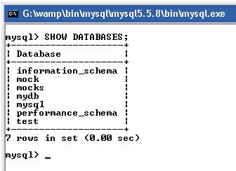 Show Database using MySQL Query