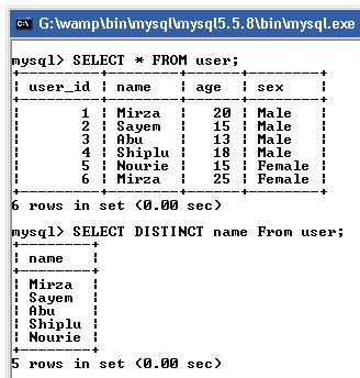 MySQL Distinct Rows with Select query