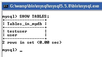 Show Table Using MySQL Query