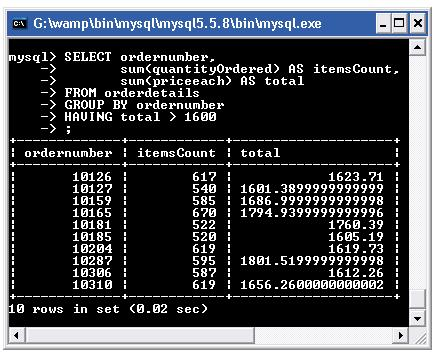 mysql group by with having