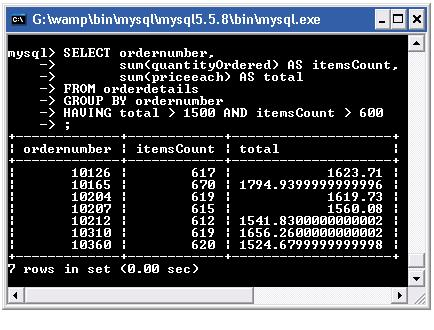 mysql group by with having and logical operator