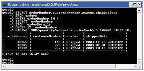 mysql subquery group by and having
