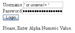 PHP Alpha Numeric Validation to prevent sql injection