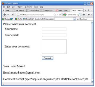 PHP SQL Injections Using Forms