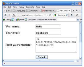 PHP SQL Injections Using PHP Form