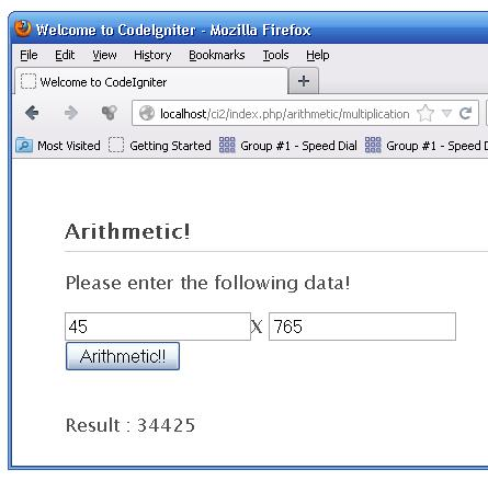 A form with CodeIgniter
