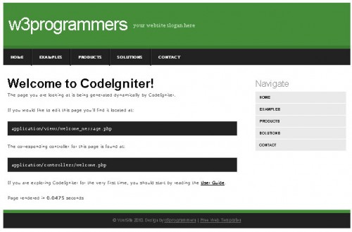 CodeIgniter Template
