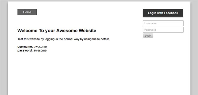 Test Site Homepage