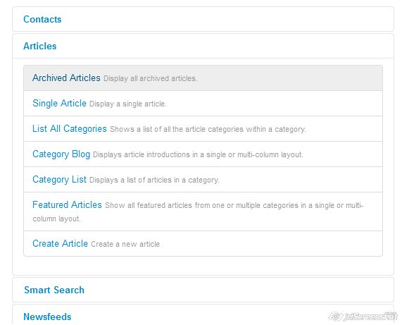 joomla 3 article section