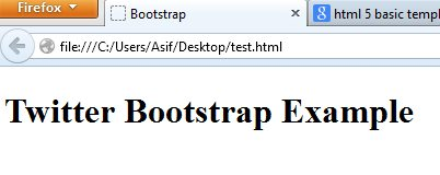 Twitter Bootstrap Result