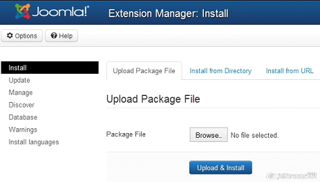 joomla 3.0 extension manager
