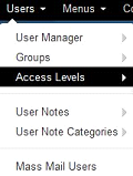 joomla users menu