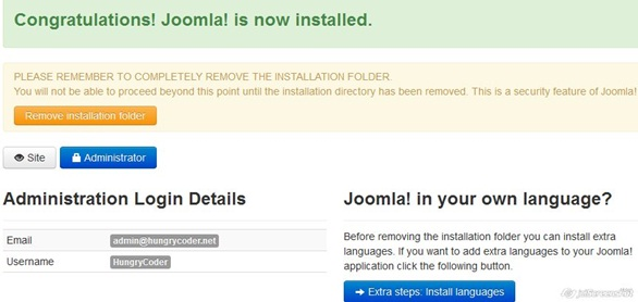 Joomla 3 Installation Final