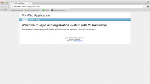 login registration front page