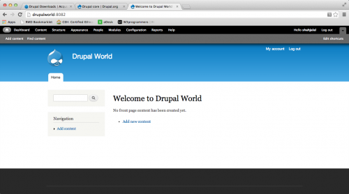 Welcome to Drupal World