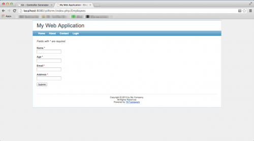 Form Validation final screen