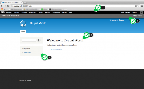 Drupal User Interface