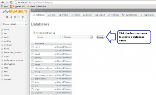 Create Local DataBase