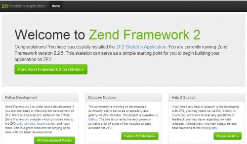 Zend Framework 2 Final Screen