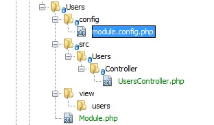Zend Framework 2 Crud Folder and File Structure