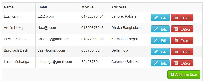 Show Users List From Database Using Zend Framework 2