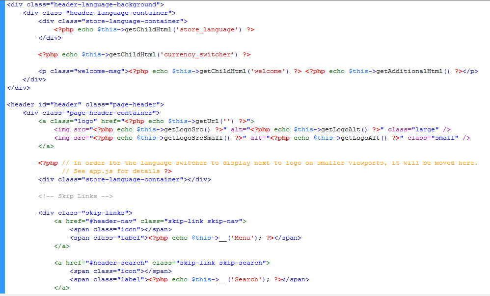 Magento Template File