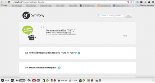 Symfony2 installation success