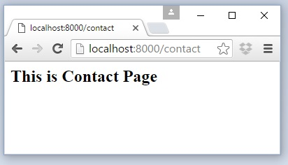 Laravel Contact Us Page