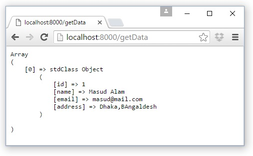 Laravel Database Query in Routes