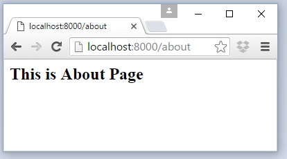 laravel about page