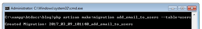add new field in table using migration