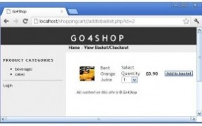 Build a shopping cart with php part-2